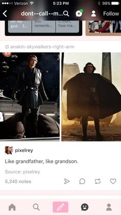 He is an icon, like his grandfather before him