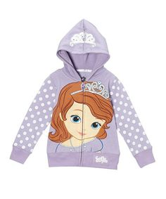 Loving this Lilac Princess Sofia Zip-Up Hoodie - Infant, Toddler & Girls on #zulily! #zulilyfinds