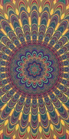 Bohemian Oval Mandala Art Print by David Zydd #giftidea #designgift #artwork #society6art