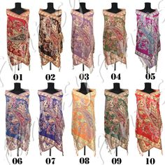 Pashmina Cashmere Flowered Scarves Solids Stole Shawl wrap for women's scarf #Unbranded #Pashmina