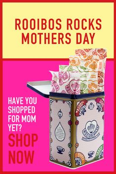 Rooibos Rocks Mother's Day with the perfect tea gifts for Mom. Mother Day Gifts, Gifts For Mom, South African Design, Tea Tins, Spring Festival, Chocolates, Special Gifts, Mothers, Rocks
