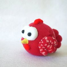 Adorable sock plushie chicken by bnwcraft on Artfire.