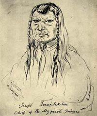 Tuekakas, commonly known as Old Chief Joseph or Joseph the Elder(c. 1785-1871), was a Native American leader of the Wallowa Band of the Nez Perce. Old Joseph was one of the first Nez Percé converts to Christianity and a vigorous advocate of the tribe's early peace with whites. In 1855 he aided Washington's territorial governor and set up a Nez Percé reservation that expanded from Oregon into Idaho. The Nez Perce agreed to give up a section of their tribal lands in return for an assurance…