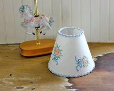 SALE - Children's Lamp Shade Lampshade Pastel Horse Lamp Set