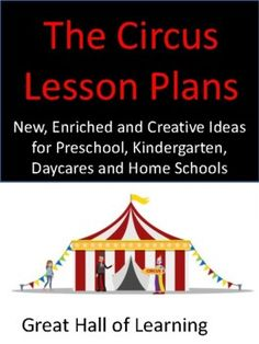"""New, enriched and creative lesson plans for the theme of """"The Circus"""" Over 50 page for preschool, kindergarten, daycares and home schools. Circle time: Interesting ideas and activities for circle time and a great list of appropriate circus books for children. Songs: Fun and easy to learn songs and r..."""