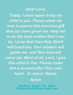 #a mothers prayer for her child quotes