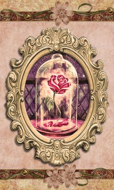Beauty and the Beast Classic Style Wallpaper
