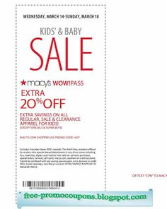 Macy's Coupons Ends of Coupon Promo Codes JUNE 2020 ! Looking for Macy's coupon and promotional code? Goodshop's coupon specialists re. Wendys Coupons, Kfc Coupons, Promo Codes For Macys, Free Printable Coupons, Free Printables, Pizza Hut Coupon Codes, Jcpenney Coupons, Pizza Chains