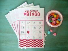 Valentine's Day BINGO Game http://www.allkindsofthingsblog.com/2015/01/valentines-day-party-round-up.html