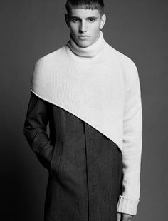 whatisajanis:  Bryant McCuddin photographed by Alastair Strong   I love this assimetrical poncho?