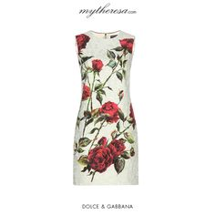 Dolce & Gabbana - Floral-printed brocade dress - This short dress is oh-so romantic. The floral-printed brocade fabric is decidedly rich and tempers the simple silhouette. - @ www.mytheresa.com