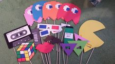 80s Photo Booth Props by VerasCookies on Etsy