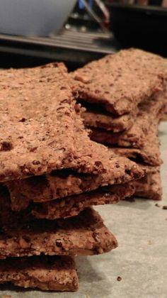 Crunchy crackers uit het boek Powerfood van Rens Kroes