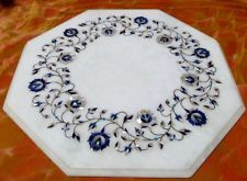 * Shades of blue ~ Pietra dura * Handcrafted marble ~ Table top ~ Inlay ~ India