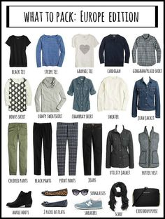 Fall Outfits What To Pack: Europe Edition Europe Travel Outfits, Fall Travel Outfit, Travel Wear, Travel Style, Fall Travel Wardrobe, Winter Travel Packing, Travel Tips, Travel Checklist, Vacation Outfits