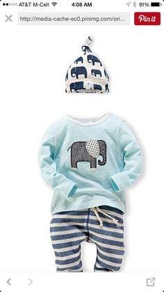 shirt elephant infant shirt elephant infant hat elephant print beanie kids fashion