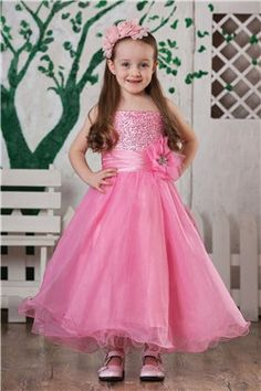 Princess Dress Ball Gown Custom Made Party Dress Lace Flower Girl Dresses KD-10