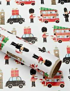 Christmas City Wrapping Paper.