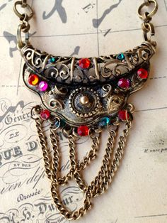 Boho Necklace or Headpiece Vintage Swarovski Rhinestone Chain Head Jewelry
