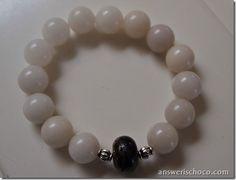 Tutorial for Designer Inspired Agate Stretch Bracelet - easy!