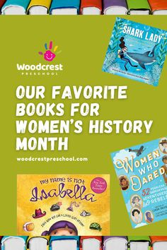 We are celebrating March with our favorite preschool books for Women's History Month. Preschool Books, Women In History, March, Celebrities, Celebs, Celebrity, Mac, Famous People