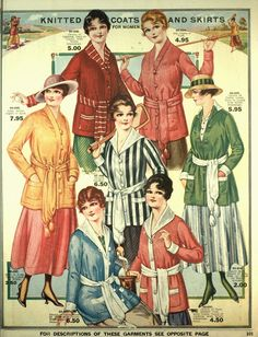 Vintage in a Modern World: Knitted Coats and Skirts (1917)