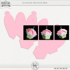 Cupcake Shaped Papercraft Box Template   Kelleigh Ratzlaff Designs