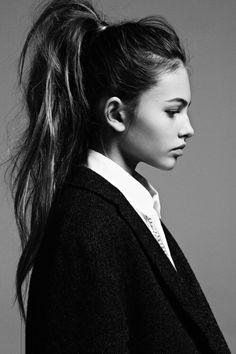 Tousled high ponytail