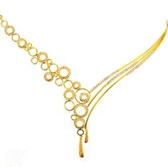 Nose Ring Jewelry, Jewelry Design Earrings, Gold Earrings Designs, Gold Jewellery Design, Gold Pearl Necklace, Necklace Set, Simple Necklace Designs, Gold Mangalsutra Designs, Diamond Wedding Sets