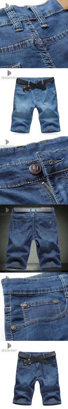 2017 New Summer Men Shorts With Stretch hombre mcalca Jeans Big size 44 46 48 50 52 Whole Brand Business Men Jeans Size 42 Homme #mensjeans2017