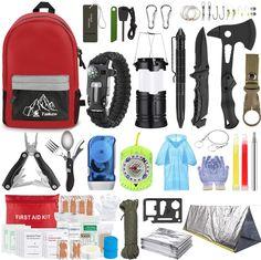 Survival First Aid Kit, Survival Axe, Outdoor Survival Gear, Emergency Survival Kit, Emergency Supplies, Apocalypse Survival, Tornados, Camping Equipment, Camping Gear