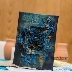 Add a skull and its perfect for Lori Enjoy your life: Scraps of Darkness. Mixed Media Canvas.