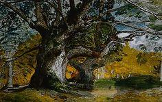 Old Trees, Lullingstone Park - Samuel Palmer (1828)