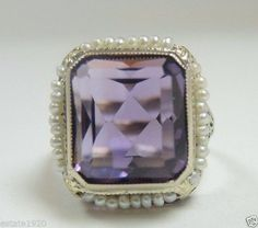 A personal favorite from my Etsy shop https://www.etsy.com/listing/260154282/antique-art-deco-amethyst-seed-pearl