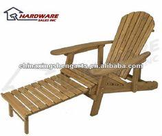 Chaise longue de jardin bois ontario d co bain de soleil - Plan de chaise longue en bois ...