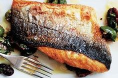 How to Cook Fish with Crispy Skin, Every Time There are a few necessary techniques to get perfectly crispy-skinned fish, every time. Chef Donald Link shows us the way. Pan Fried Trout, Baked Trout, Fried Fish, Seared Fish, Pan Seared Salmon, Baked Salmon, Seafood Dishes, Seafood Recipes, Cooking Recipes