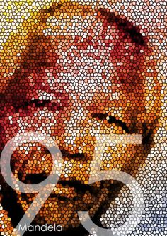 Poster of Nelson Mandela, by Leigh Desai. Source: http://stocklogos.com/topic/mandela-95th-birthday-poster-project