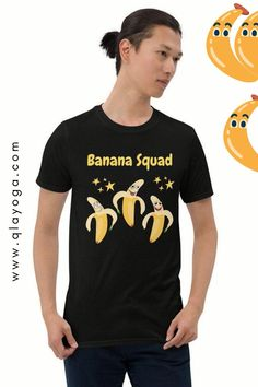 Banana Squad, Banana Shirt, Banana Print Tshirt, Unique Top, Cool Tee, Banana Graphic Funny Fruit Absurd Apparel Unique Gift Hipster Clothes Funny Fruit, Hipster Outfits, New T, Cool Tees, Squad, Unique Gifts, Unisex, Cool Stuff, Fruit