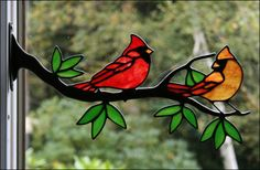 Stained Glass art Deco - Fused Glass art For Kids - Stained Glass art Easy - Wine Glass art DIY - - Stained Glass Cardinal, Stained Glass Birds, Stained Glass Crafts, Stained Glass Lamps, Stained Glass Designs, Stained Glass Patterns, Fused Glass, Broken Glass Art, Sea Glass Art