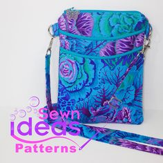 The Easy Access Cross-Body Bag from Sewn Ideas Patterns is a perfect size to carry everyday, to hold all of your essentials.