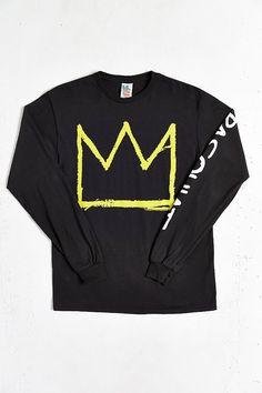 Junk Food X Basquiat Crown Long-Sleeve Tee - Urban Outfitters