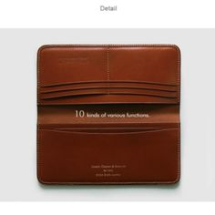 JEFF.LTD Bridle Leather Long Wallet. www.jeff-store.com SR