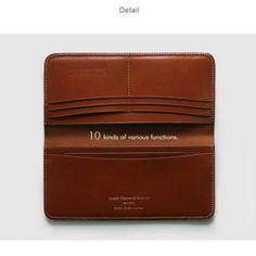 JEFF.LTD Bridle Leather Long Wallet. www.jeff-store.com SR