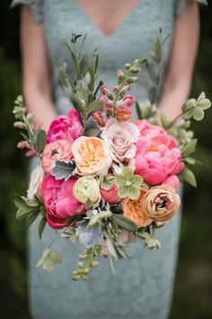 Spring is in Bloom | Wedding Bouquet Inspiration | Pink and Orange Wedding