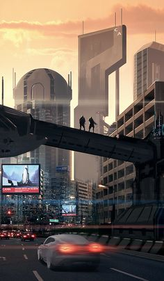 Future city, futuristic architecture from The Tower by Travis Wright