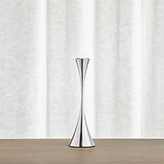 Arden Small Mirrored Stainless Steel Taper Candle Holder - Crate and Barrel Candle Holders, Lantern Candle Holders, Crate And Barrel, Taper Candle, Small Mirrors, Taper Candle Holders, Candles, Vase Candle Holder, Steel Design