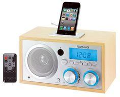 Amazon.com: Craig Retro iPod/iPhone Docking Clock Radio (CMB3215): Home Audio & Theater