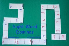 Practice sight words for 4-5year olds with this sight word dominos game.