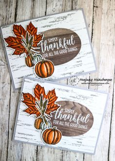 Thankful cards 2017 pack of 10 Thanksgiving dinner