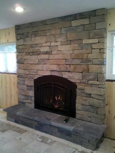 Stone Front Fireplace Fronts Mantle Ideas Direct Vent